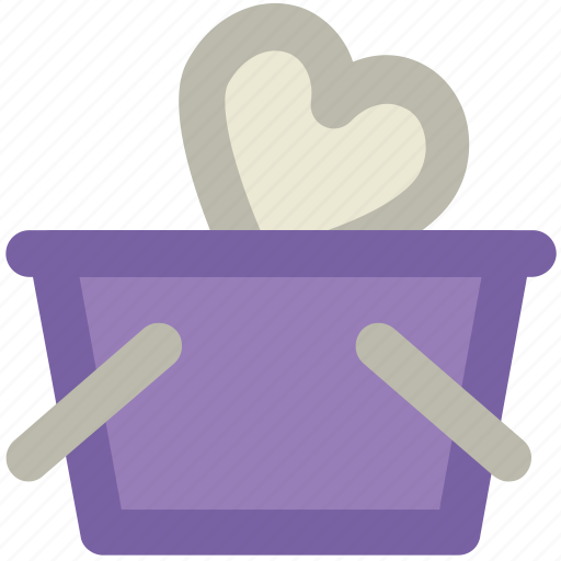basket, happiness, heart sign, love, love inspirations, passion, shopping perception icon