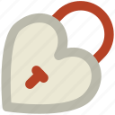heart shaped, love secret, padlock, privacy, relationship protection, romantic, secret feelings icon