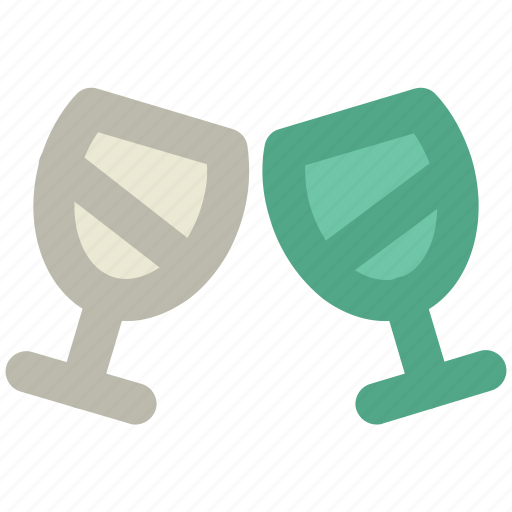 cheers, party, passion, toasting glasses, togetherness, valentine day icon