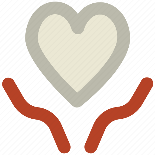 cardiology, charity, hands, health insurance, heart, love perception, save life icon