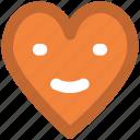 cartoon, happy heart, heart face, heart smile, heart smiley, laugh, love chat