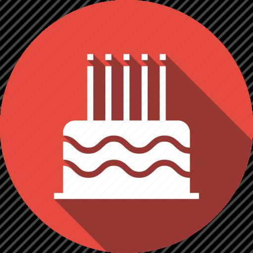 birthday, cake, celebration, food, party, present icon
