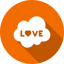 cloud, cluouding, favorite, heart, love icon