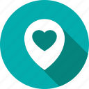 heart, locator, pin, romance icon