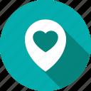 heart, locator, pin, romance icon