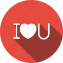 heart, i, sign, you icon
