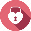 heart, love, lock, romance, key, wedding, loving icon