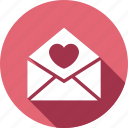 invitation, letter, love, post icon
