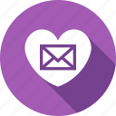 envelope, letter, love, romantic icon