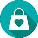 accessory, bag, clothes, clothing, heart, love icon