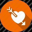 arrow, breakup, cupid, heart, love, loving icon
