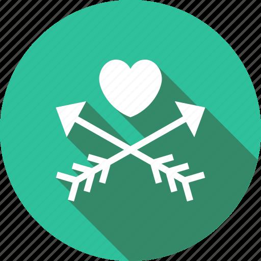 arrows, cupid, heart, love, loving, romantic icon
