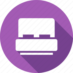 bed, bedroom, furniture, time icon