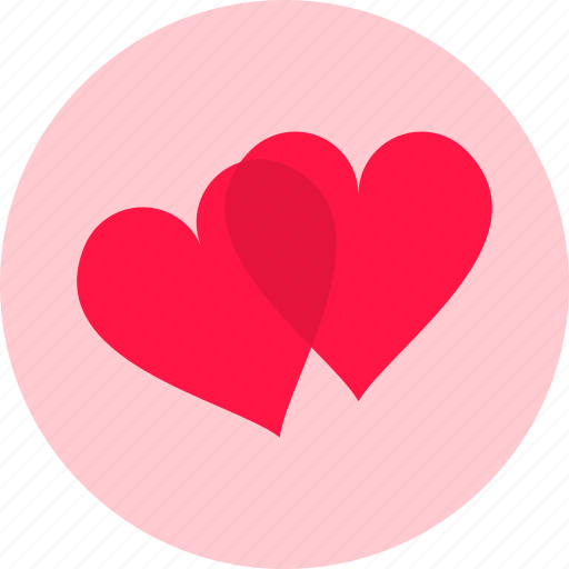 attached, hearts, love, passion, romance, romantic, valentines icon
