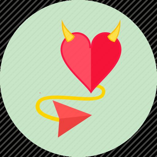 day, devil, heart, love, romantic, sin, valentine's icon