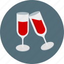 alcohol, drinks, glasses, love, red wine, romantic, wine icon