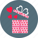 day, gift, hearts, love, present, romance, valentine's icon