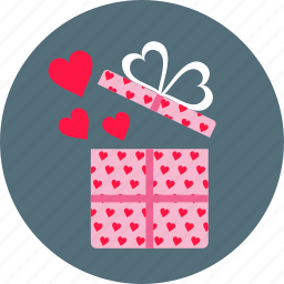 day, gift, hearts, love, present, romance, valentine's icon