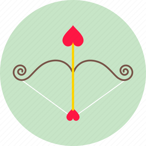 arrow, cupidon, fall in love, heart, love, romance, valentine's day icon