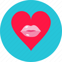 day, heart, kissing, love, romantic, valentine, valentine's icon