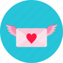 communication, letter, love, mail, message, send, valentine icon