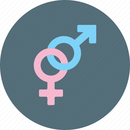 anatomical signs, genders, genres, male and female, sign icon