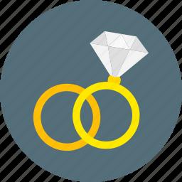 diamond, engagement ring, jewelry, love, ring, romance, wedding icon