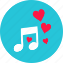 audio, heart, love, music, note, romantic, sound icon