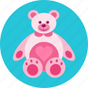 bear, gift, heart, love, romantic, teddy, toy icon