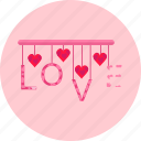 day, heart, love, romance, romantic, surprise, valentine's icon