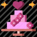bakery, cake, cook, food, love, sweet, wedding icon