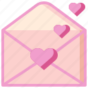 card, heart, letter, love, romantic, valentines, wedding icon