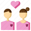 boyfriend, couple, girlfriend, heart, love, relationship, valentines icon