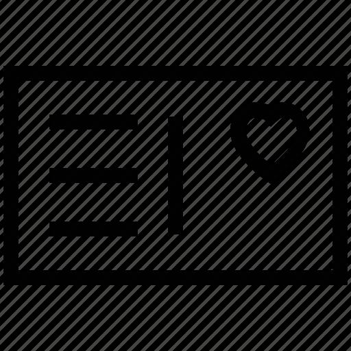 ecard, love card, love greetings, lovers card, valentine card, valentine greeting, wishing card icon