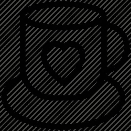 cup, love, love concept, romance, tea, teacup with heart icon