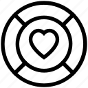 heart, heart in lifesaver, life line, lifesaver, love concept, love life icon