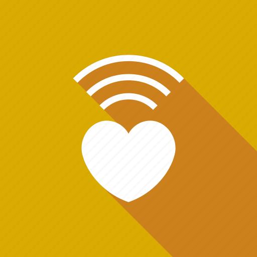 internet, love, radio, valentine, wifi, wireless icon