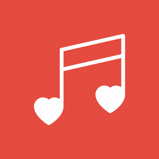 love, note, sing, wedding icon