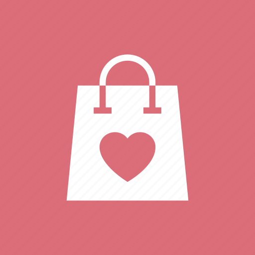 bag, favorite, heart, love, shopping icon