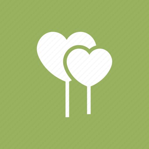 balloon, baloon, heart, love, party, romance, scribble icon