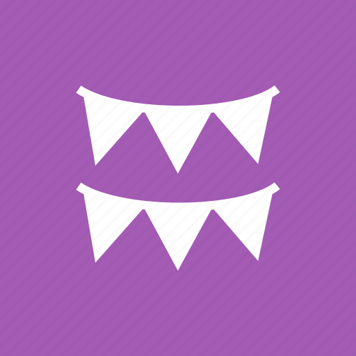 banner, birthday, cute, decoration, flag, party, set icon