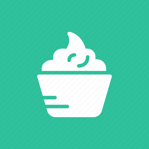 cookies, cream, frost, sweet, topping icon