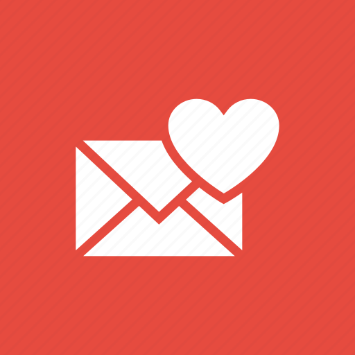correspondence, envelope, letter, love icon