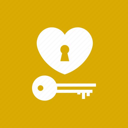 Heart, key, lock, love, valentine, wedding icon - Download on Iconfinder