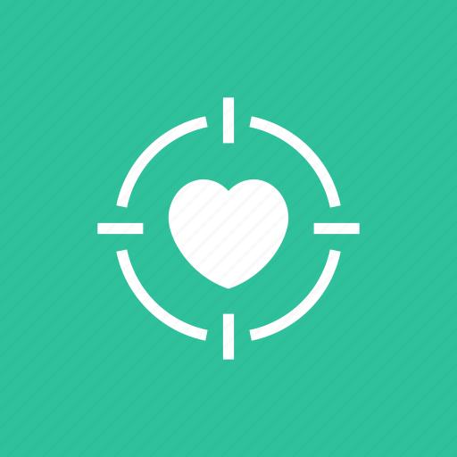 Heart, love, romance, target, valentine icon - Download on Iconfinder