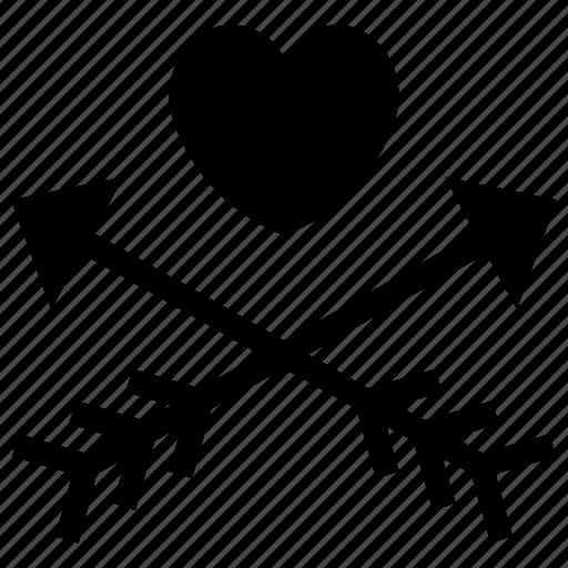 arrows, cupid, heart, love, loving, romantic icon, valentine icon