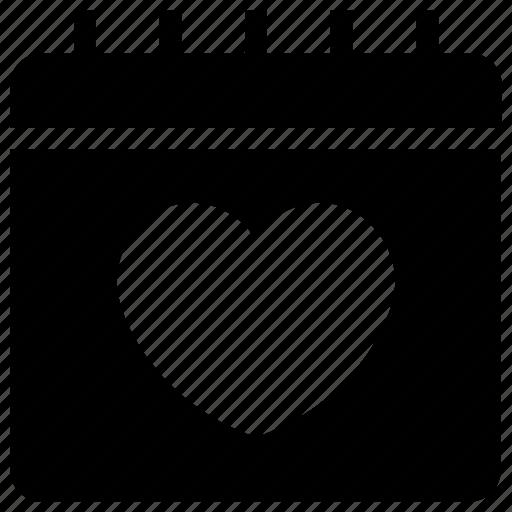 Calendar, date, dating, heart, love, relationship, valentine icon - Download on Iconfinder