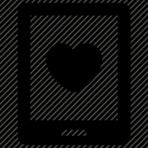 favorite, handphone, heart, love, loving, phone, smart phone icon