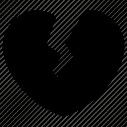 break, breakup, dumped, heart, heartbreaker, heartbroken icon, love icon
