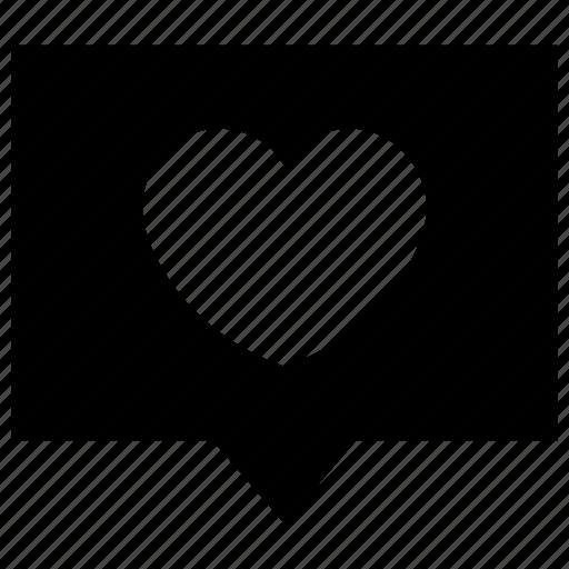 bubble, chat, comment, hearts, love, message, valentine icon icon